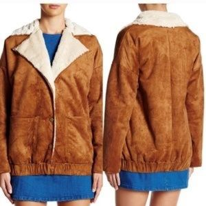 NWT Honeypunch Pac Sun Faux Suede Jacket SMALL